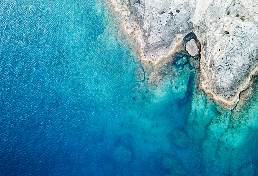 Southern Europe「Aerial View of the Sea and Rock」:スマホ壁紙(3)