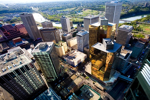 Edmonton「Aerial view of downtown, Edmonton, Alberta, Canada」:スマホ壁紙(15)