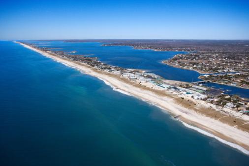 Long Island「Aerial view of The Hamptons, Long Island, New York」:スマホ壁紙(8)