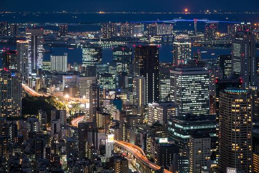 日本文化「上空から見た東京の夜」:スマホ壁紙(12)