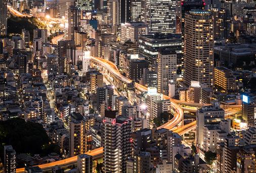日本文化「上空から見た東京の夜」:スマホ壁紙(13)