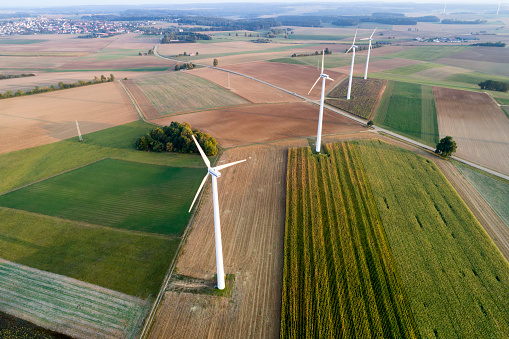 Agricultural Building「Aerial View of Wind Turbines」:スマホ壁紙(0)