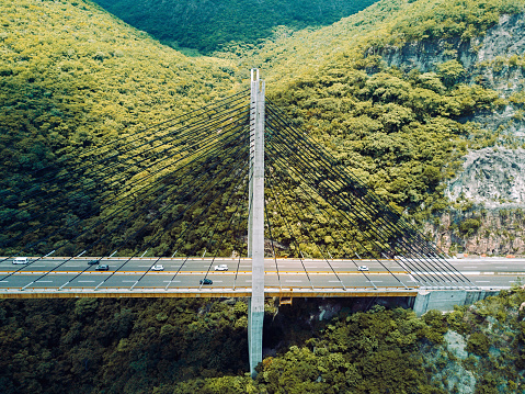 静かな情景「橋の空撮」:スマホ壁紙(18)