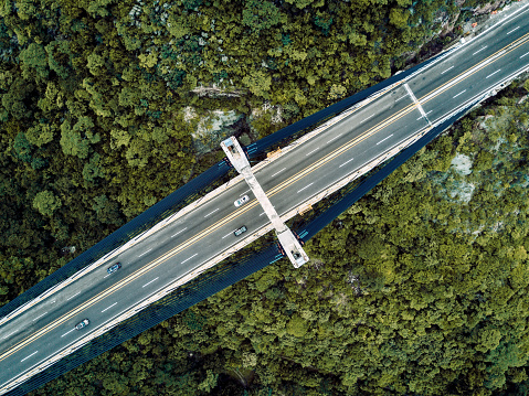 乗り物・交通「橋の空撮」:スマホ壁紙(7)