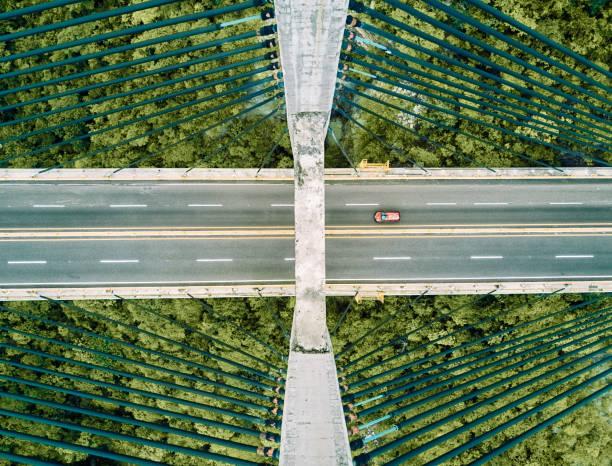 Aerial view of a bridge:スマホ壁紙(壁紙.com)