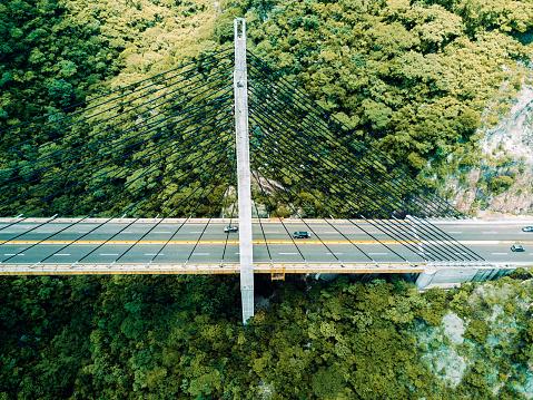 静かな情景「橋の空撮」:スマホ壁紙(15)