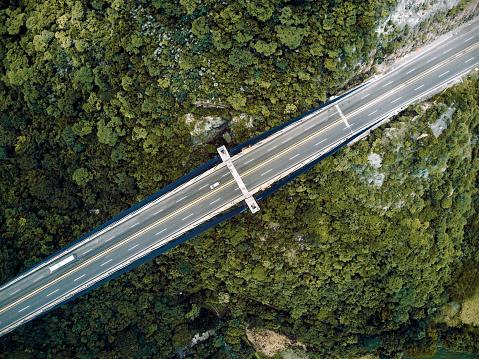 乗り物・交通「橋の空撮」:スマホ壁紙(8)