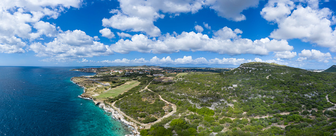 Sand Trap「Aerial View of Caribbean Sea and Green - Golf Course」:スマホ壁紙(2)