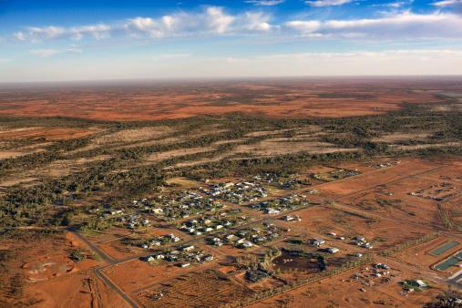 Queensland「Aerial view of Thargomindah, Queensland, Australia」:スマホ壁紙(1)
