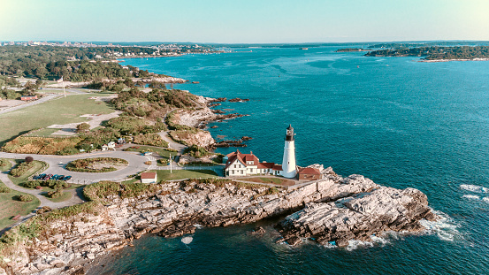 Maine「Aerial View Portland Head Lighthouse Maine USA」:スマホ壁紙(16)