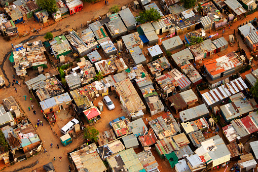 Housing Project「Aerial view of an informal settlement, Johannesburg,South Africa」:スマホ壁紙(9)