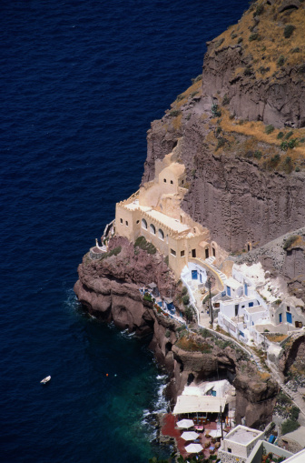 Aegean Sea「Aerial View of Santorini」:スマホ壁紙(10)