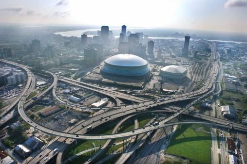 New Orleans「Aerial view of downtown New Orleans, Louisiana」:スマホ壁紙(17)