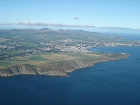 マン島「空から見たダグラス、マン島」:スマホ壁紙(3)