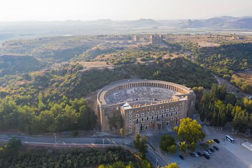 Roman「Aerial view of Aspendos Theater」:スマホ壁紙(7)