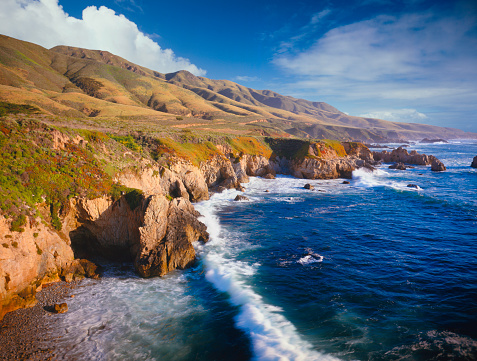 Big Sur「Aerial view of the coast of California」:スマホ壁紙(15)