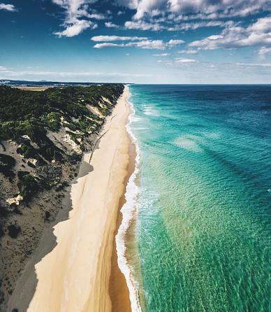 ビーチ「南オーストラリアの海岸線の空中写真」:スマホ壁紙(11)