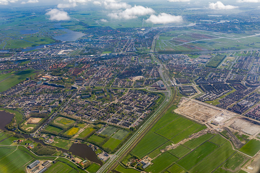 Amsterdam「Aerial view of the southern part of Amsterdam.」:スマホ壁紙(5)
