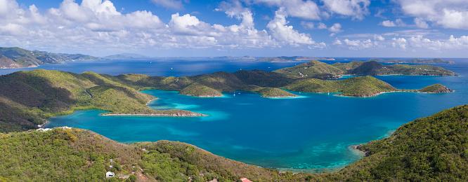 British Virgin Islands「aerial view of East End, St.John, US Virgin Islands」:スマホ壁紙(16)