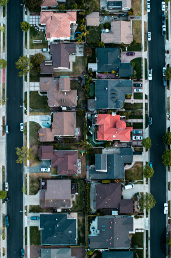 Period Costume「Aerial view of a residential area,LA」:スマホ壁紙(16)