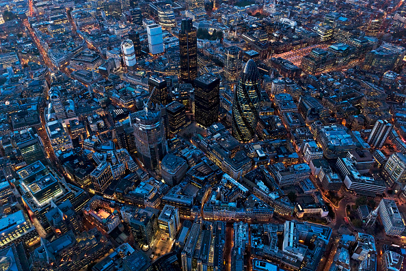 Cityscape「Aerial view of City of London at Night, UK」:写真・画像(7)[壁紙.com]
