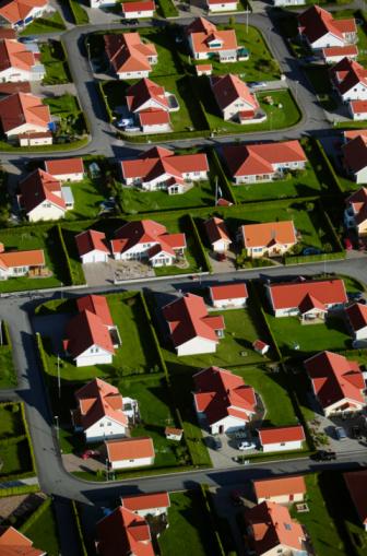 Tilt「Aerial view of suburban houses」:スマホ壁紙(1)