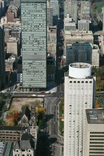 Boulevard「Aerial view of Peel Street in Montreal, Quebec, Canada」:スマホ壁紙(13)