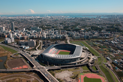 日本「Aerial view of Nissan stadium, Yokohama City, Kanagawa Prefecture, Honshu, Japan」:スマホ壁紙(17)
