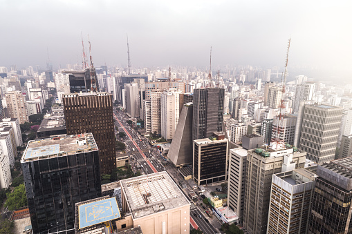 Avenue「Aerial View of Avenida Paulista, Sao Paulo city, Brazil」:スマホ壁紙(17)