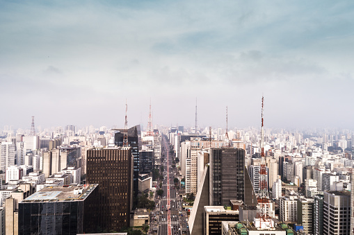 Latin American Culture「Aerial View of Avenida Paulista, Sao Paulo city, Brazil」:スマホ壁紙(13)