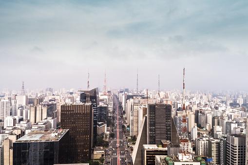 City Life「Aerial View of Avenida Paulista, Sao Paulo city, Brazil」:スマホ壁紙(19)
