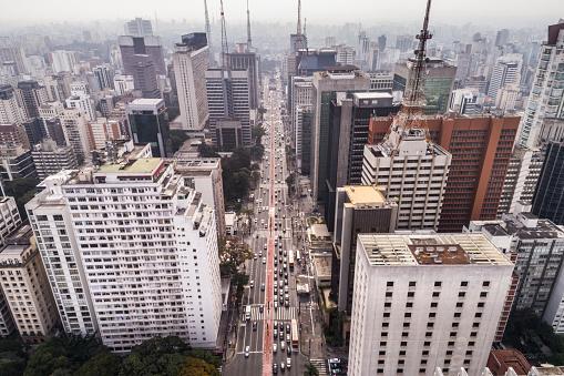 Avenue「Aerial View of Avenida Paulista, Sao Paulo city, Brazil」:スマホ壁紙(13)