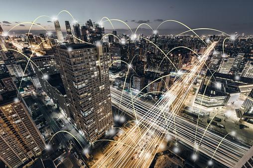 Information Medium「Aerial View of City Network, Beijing, China」:スマホ壁紙(18)