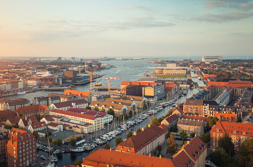 Danish Culture「Aerial view of Copenhagen, Denmark」:スマホ壁紙(7)