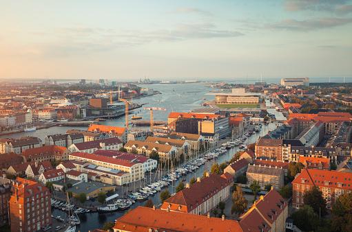 Denmark「Aerial view of Copenhagen, Denmark」:スマホ壁紙(14)