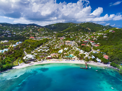 Summer Resort「aerial view of Water Bay, St.Thomas, US Virgin Islands」:スマホ壁紙(14)