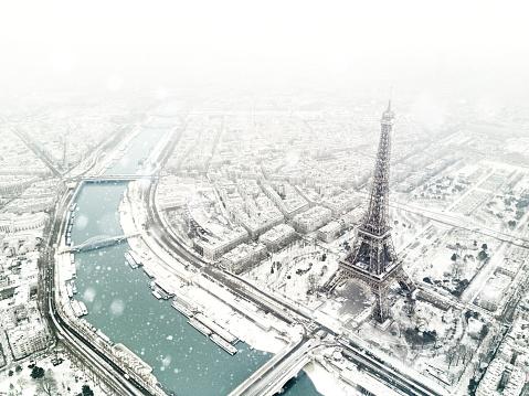 Urban Skyline「Aerial view of the Eiffel tower」:スマホ壁紙(4)