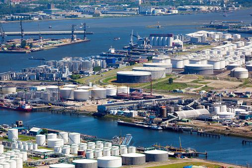 Netherlands「Aerial view of the Botlek, Rotterdam」:スマホ壁紙(7)