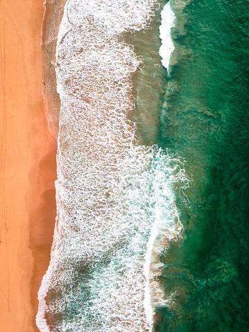 ビーチ「オーストラリアのボンダイビーチの航空写真」:スマホ壁紙(16)