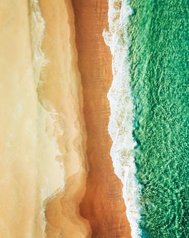 ビーチ「オーストラリアのボンダイビーチの航空写真」:スマホ壁紙(17)