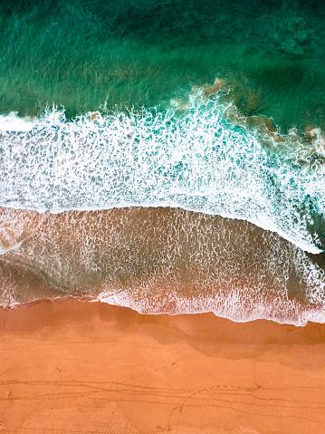 Wave「オーストラリアのボンダイビーチの航空写真」:スマホ壁紙(17)