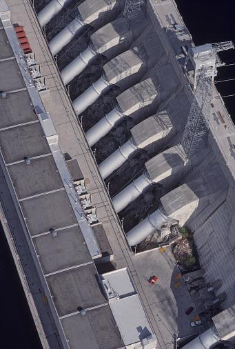 Oregon - US State「Aerial view, penstocks, Chief Joseph Dam.」:スマホ壁紙(3)