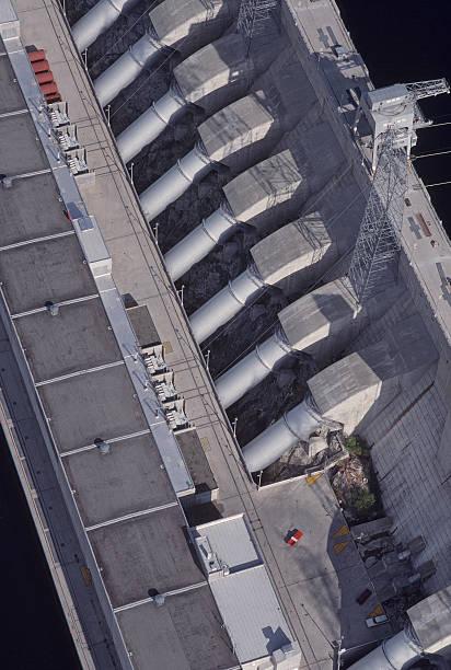 Aerial view, penstocks, Chief Joseph Dam.:スマホ壁紙(壁紙.com)