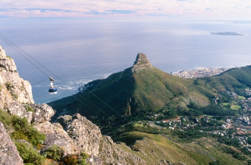 Cable Car「Aerial View of Lions Head and Robben Island」:スマホ壁紙(9)
