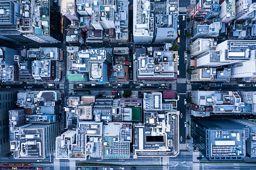 Male Likeness「Aerial view in urban areas.」:スマホ壁紙(6)