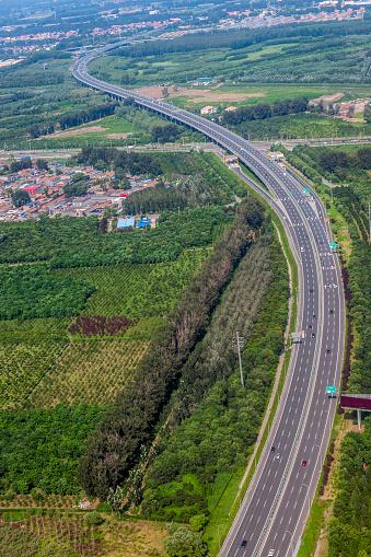 世界の風景(地域別)「前が空港、Yingezhuangcun、中国北京市の空撮」:スマホ壁紙(11)