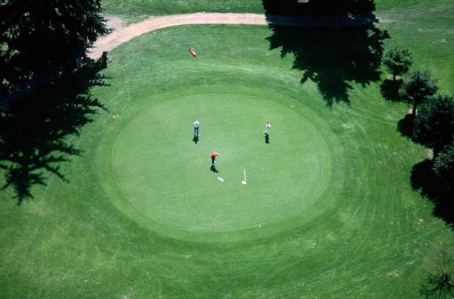 Green - Golf Course「Aerial view of golf course」:スマホ壁紙(18)