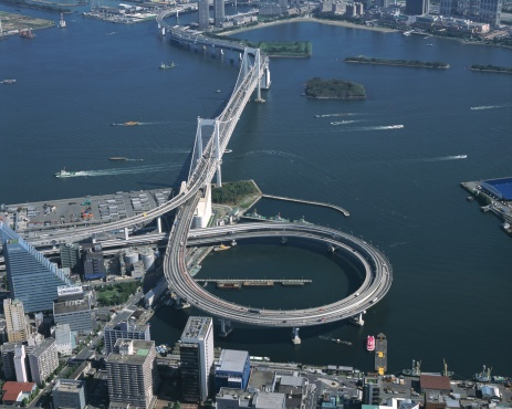 Minato Ward「Aerial view of Tokyo, Japan」:スマホ壁紙(19)