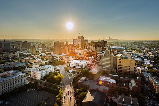New Jersey「Aerial view of Newark, New Jersey」:スマホ壁紙(10)