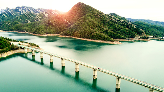 Spain「Aerial View of road above a lake」:スマホ壁紙(19)